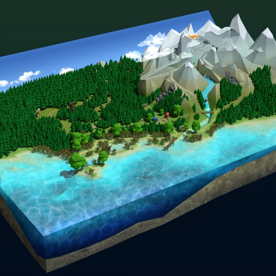 Steps 3D Overview geographic